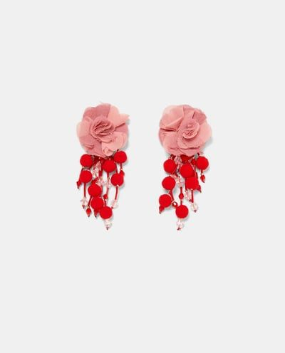 EARRINGS WITH FABRIC FLOWERS-Jewellery-ACCESSORIES-WOMAN | ZARA United States