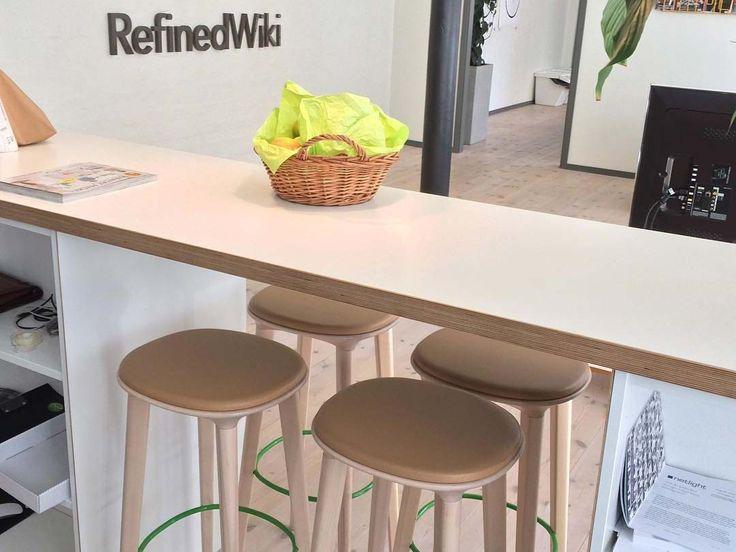 Audrey bar stools at refinedwiki office
