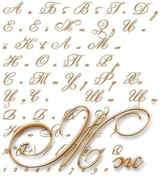 Как красиво написать на открытке буквы