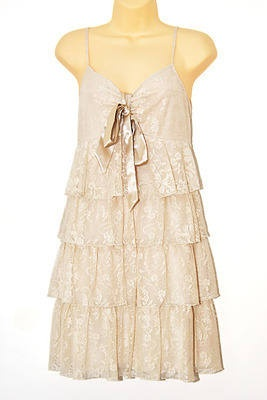 new look, swinging 20s style dress, lacey layers, knee length, size 16 uk  £18.00