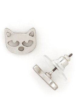 Cat in the Act Earrings -- ModCloth