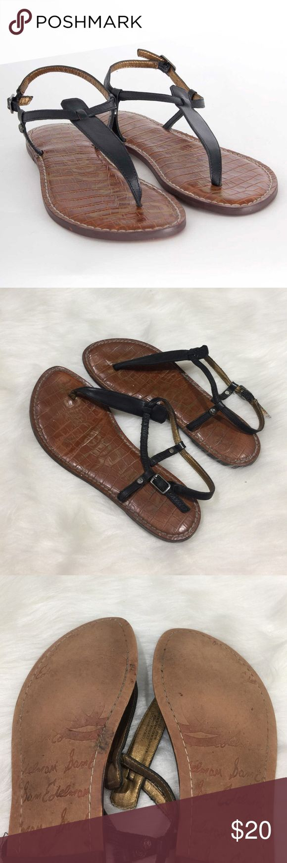 Sam Edelman Gigi Sandal These sandals are in good condition and still have lots of life! Size 7.5! Smoke and pet free home! No trades. Offers welcome! Sam Edelman Shoes Sandals