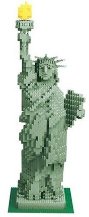 Lego 3450 Statue of Liberty Sculpture 2882 Pieces by LEGO. $5750.00. The completed piece stands an impressive 2 feet, 9 inches tall and is an impressive tribute to one of the most recognizable monuments in the world. But with great work comes great rewards. It features a daunting 2,882 pieces and a graphic guide book to show you how to construct the statue in just 80 steps. There are small LEGO sets, there are large LEGO sets, there are even very large LEGO sets. ...