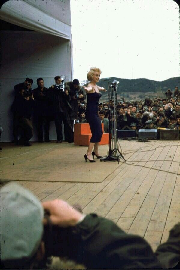 Marilyn and the troops