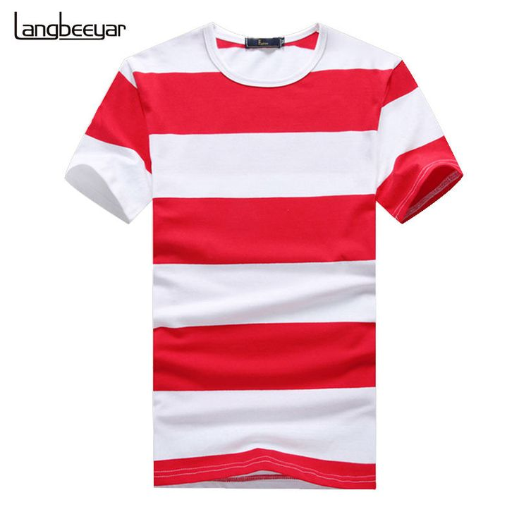 Men's Striped T Shirt Short Sleeve Casual O Neck Shirts Slim Fitted Trends Tees  #MensStriped #BasicTee