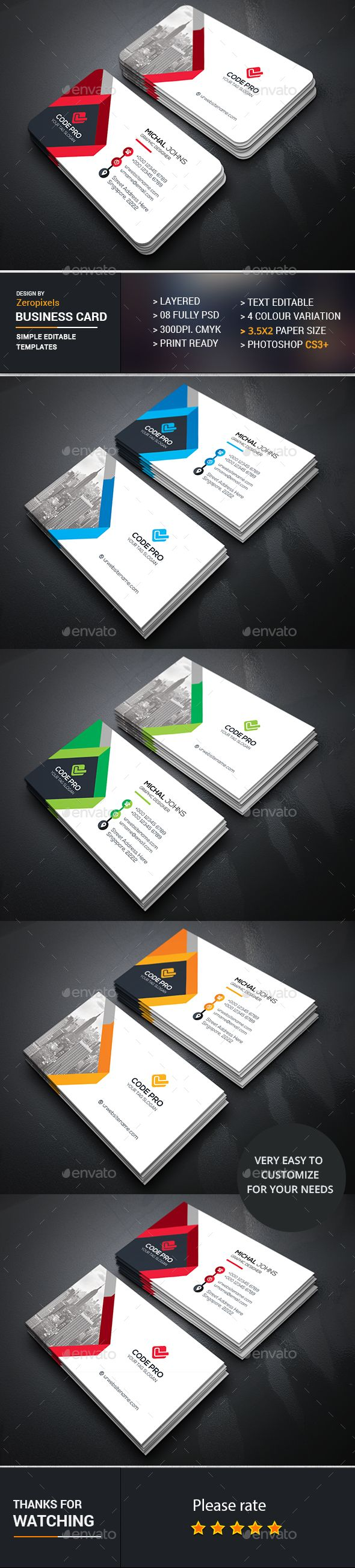 Business Card Template PSD. Download here: https://graphicriver.net/item/business-card/16937942?ref=ksioks