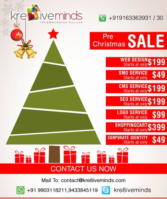 Pre Christmas Sale at Kre8iveminds