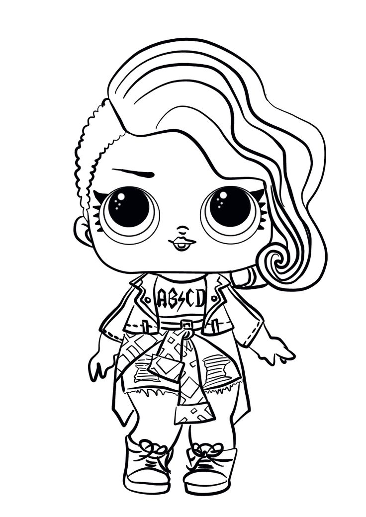 Lol Surprise Doll Coloring Pages Rocker Cute Coloring