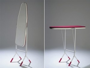 What a fantastic idea!  An ironing board that doubles as a mirror!