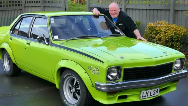 The 1974 Holden L-34 Torana in Barbados green,