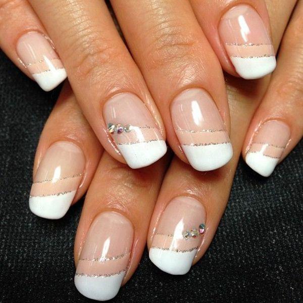 fingernägel hochzeit french nails bilder
