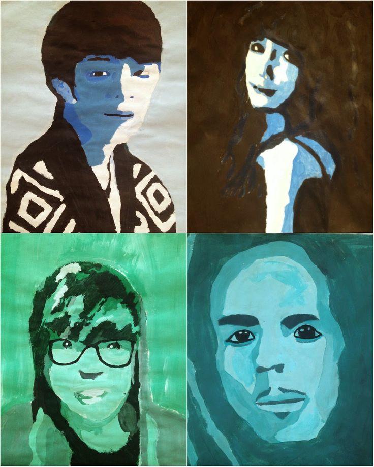 Cornwell Fam: 8th Grade Monochromatic Paintings