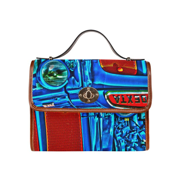 Tractor Blues Waterproof Canvas Bag/All Over Print (Model 1641)