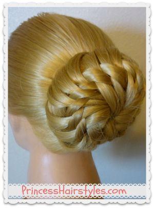 Star Flower Bun Video Tutorial #hairstyle