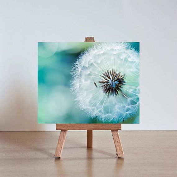 Dandelion photography mini print with easel fine by mylittlepixels, $13.00