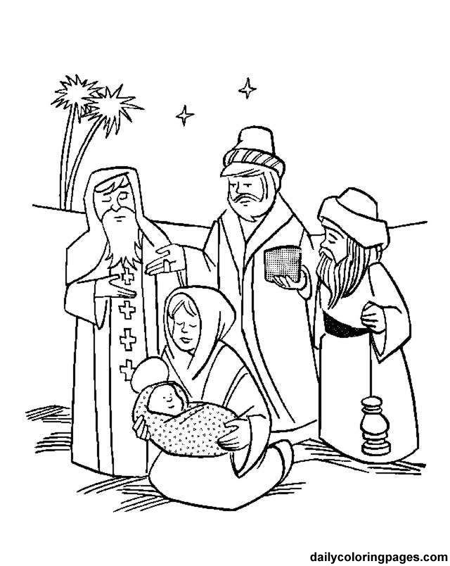 Three Wise Men Christmas Coloring Pages 01