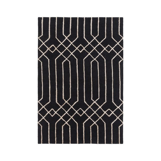 Get the visual depths of geometric designs and an art deco feel with our wool hand-tufted throw rug. This priceless rug will fit in many room themes! Made in India, it features a cotton canvas back, an...  Find the Deco Print Rug, as seen in the Textile Collection at http://dotandbo.com/category/decor-and-pillows/rugs/textile?utm_source=pinterest&utm_medium=organic&db_sku=P30565