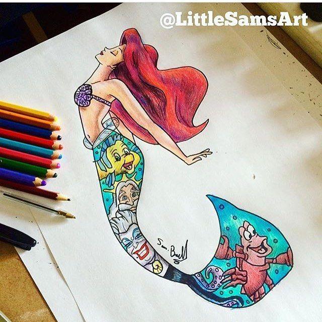 Imágenes inspiradoras basadas en personajes de Disney. #disneyarts #Disney