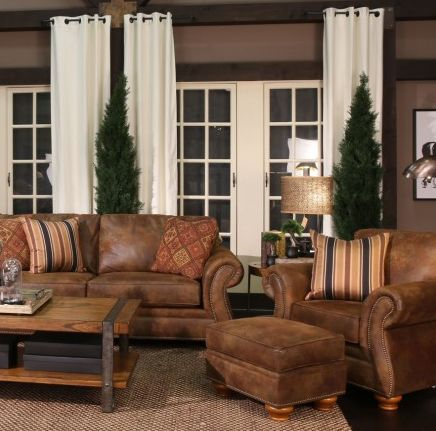 a comfortable sleeper sofa allows an easy transition from a highstyle living room into