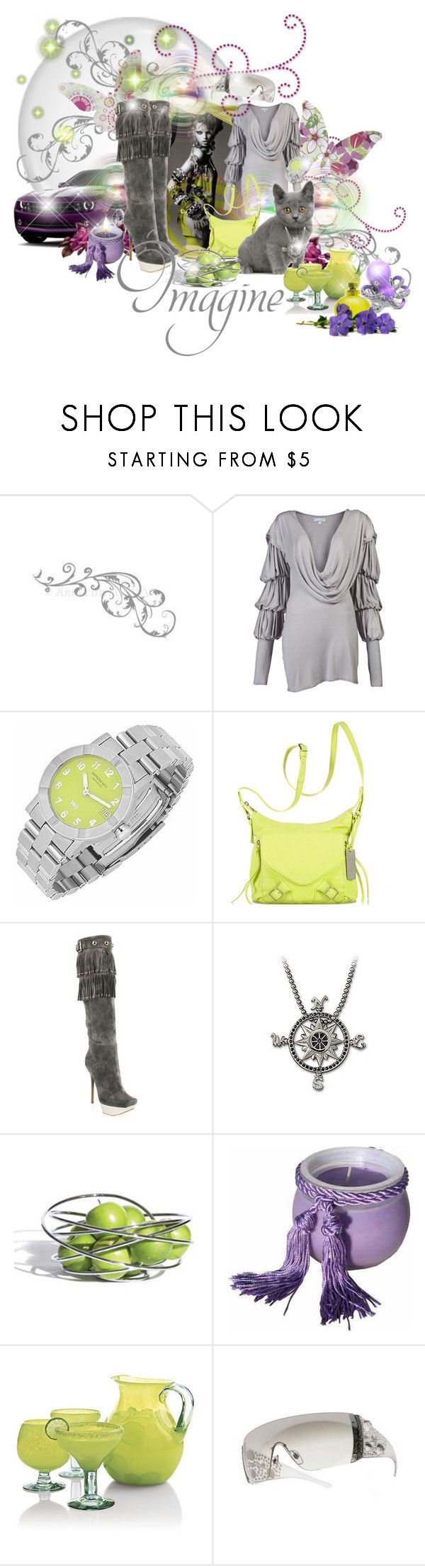 """""""Imagine"""" by aquabunny ❤ liked on Polyvore featuring WALL, Forum, JULIA CLANCEY, Raymond Weil, Botkier, Gianmarco Lorenzi, Swarovski, Black+Blum, Sonoma Lavender and Crate and Barrel"""
