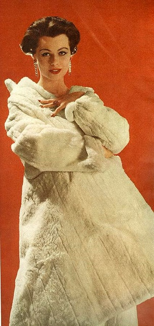 Ermine coat    From Woman's Home Companion, December 1956