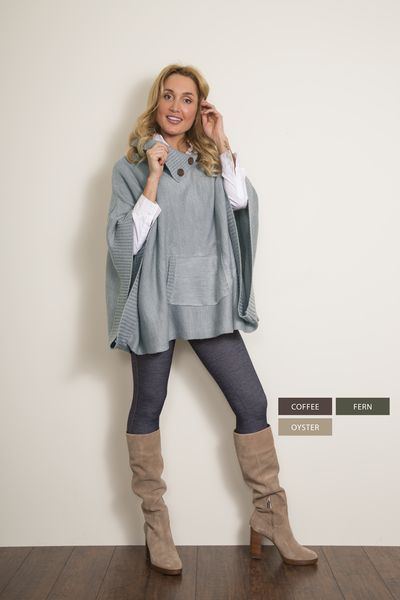 2 Tone Button Muff Cowl Poncho Neutral WB-PNCH-2A #fashion #fallfashion #retailtherapy #fashionista #unique #ontrend #newarrivals #cape #blanketscarf #scarves #bootsocks #accessorize #Mississauga #Streetsville #CraftedDecor