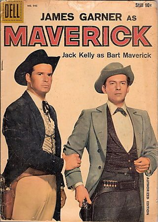 James Garner (Bret Maverick)  Jack Kelly (Bart Maverick)  Roger Moore (Beau Maverick)  Robert Colbert (Brent Maverick)  ABC -- 1957-1962