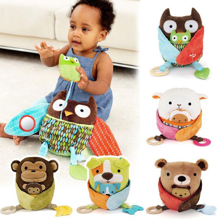 Купить товарДетские игрушки мягкие плюшевые кроватки кровать висит прорезыватель симпатичные куклы новорожденный детская кроватка коляска детские игрушки мальчик девочка кольцо колокол в категории Погремушки для младенцевна AliExpress.          2015 новую погремушку кольцо колокола детские мягкие игрушки плюшевые овец кроватке кровать висит животны