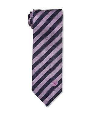 67% OFF Versace Men's Striped Tie, Purple/Navy
