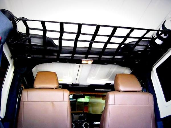 6 Point Overhead Jeep Net To Carry Items Hidden Out Of Way With