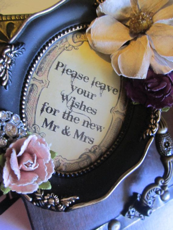 Wedding Guest Book Alternative Victorian Steampunk Vintage Personalize on Etsy, $100.00