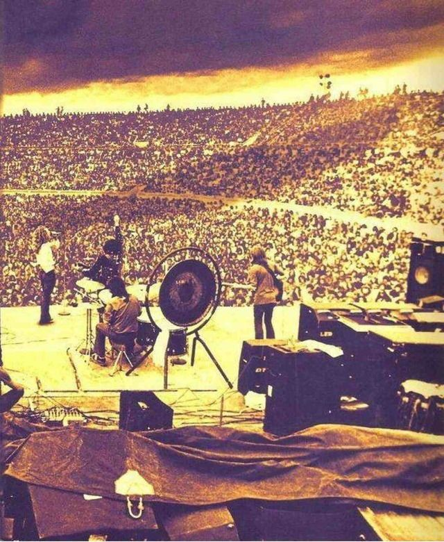 Led Zeppelin on stage