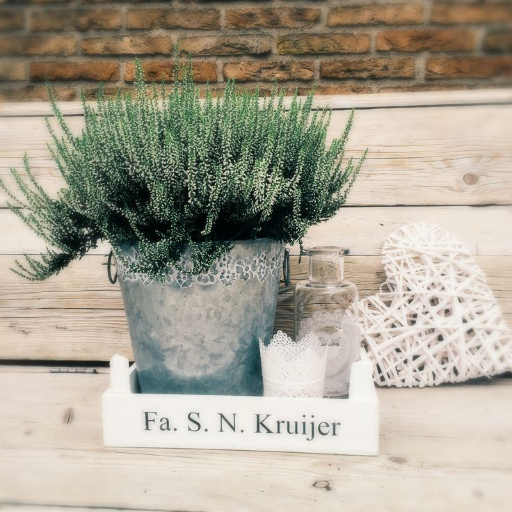 Steigerhout#zink#glas#oud kratje