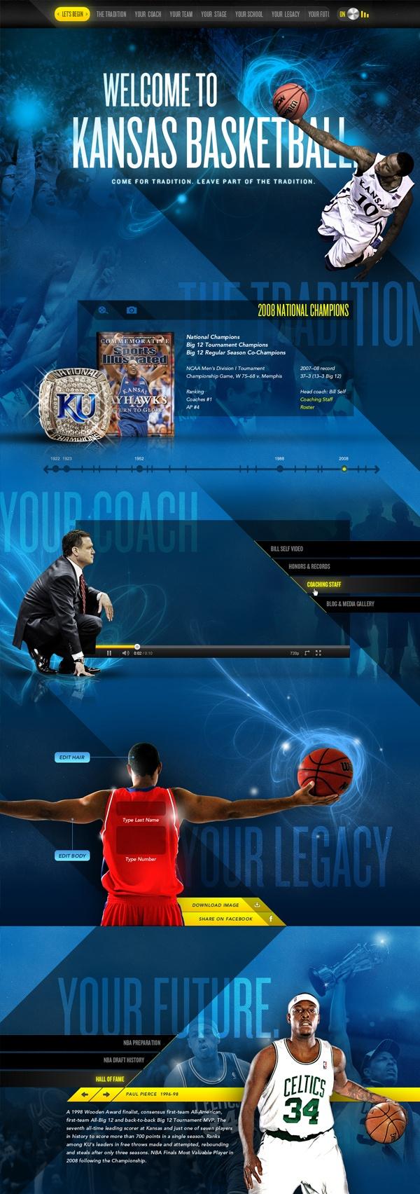 Kansas Basketball proof of concept web design (Mark Unger)