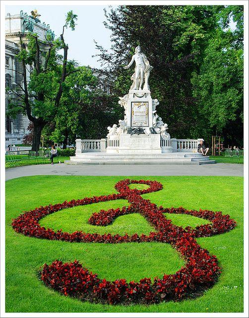 Mozart monument in Vienna. Austria.