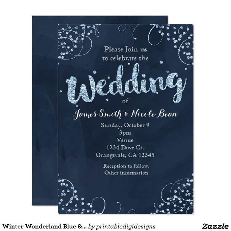 94 best winter wonderland party invitations images on Pinterest