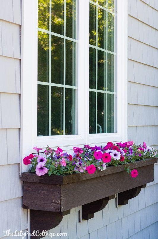Flower Window Baskets : Best ideas about window box brackets on