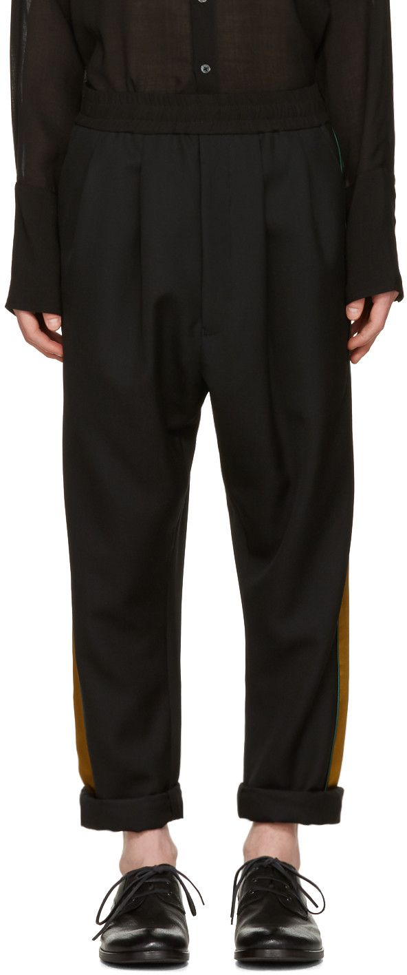 Haider Ackermann: Black Stripe Trousers | SSENSE