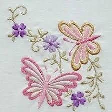 Image result for bordados de mariposas a mano
