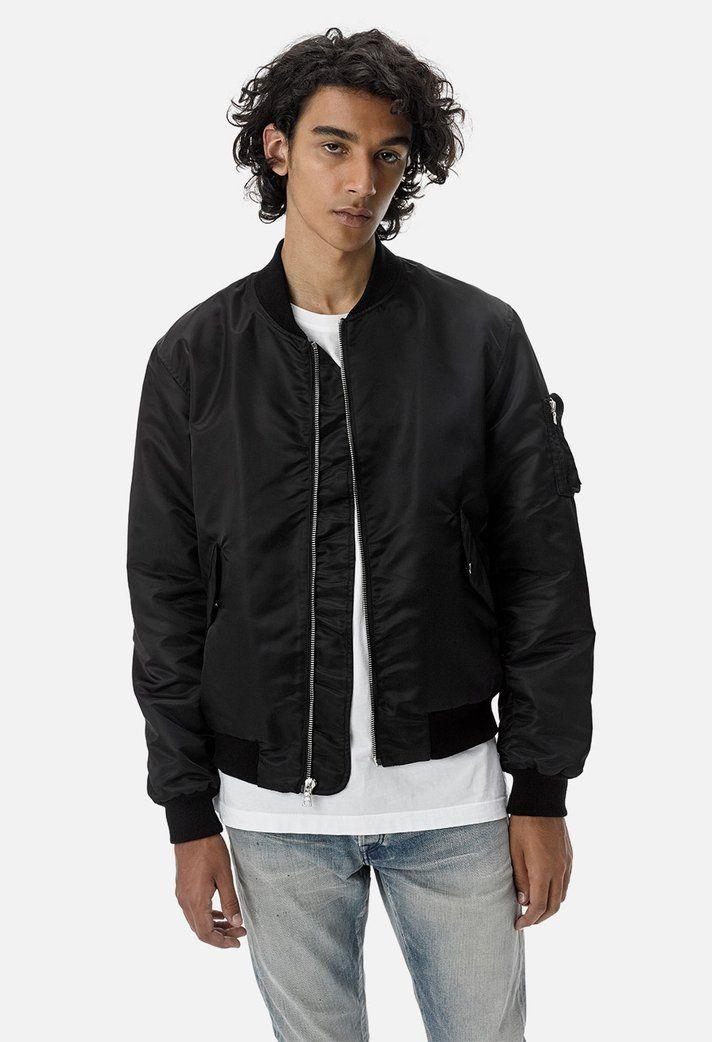aa8d42474 Bogota Bomber II / Black in 2019 | John Elliott | Bomber jacket ...