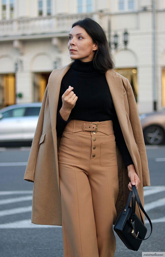 https://minimalissmo.blogspot.com/2017/09/jesienne-stylizacje-2017.html #camel #coat #look #elegant #stylish #winter #fall #fashion