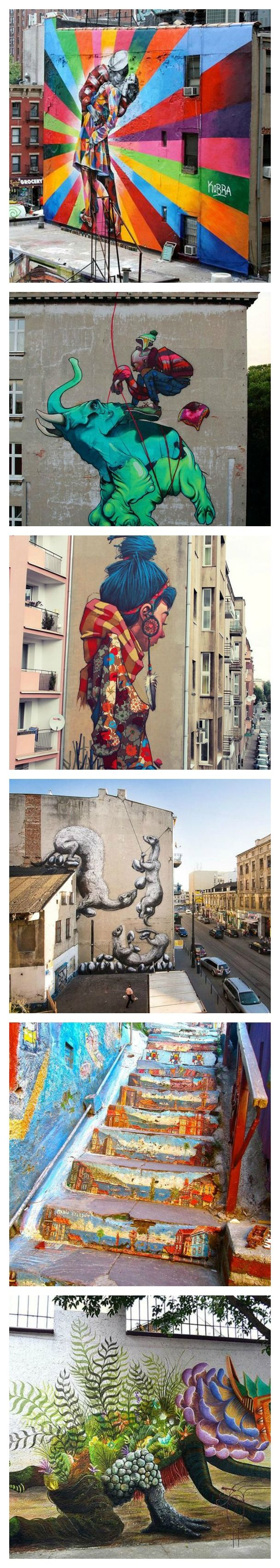 17 Insanely Cool Street Art You Just Have To See. Seriously, why can't we have this kind of art on our neighborhood? See the full list here.