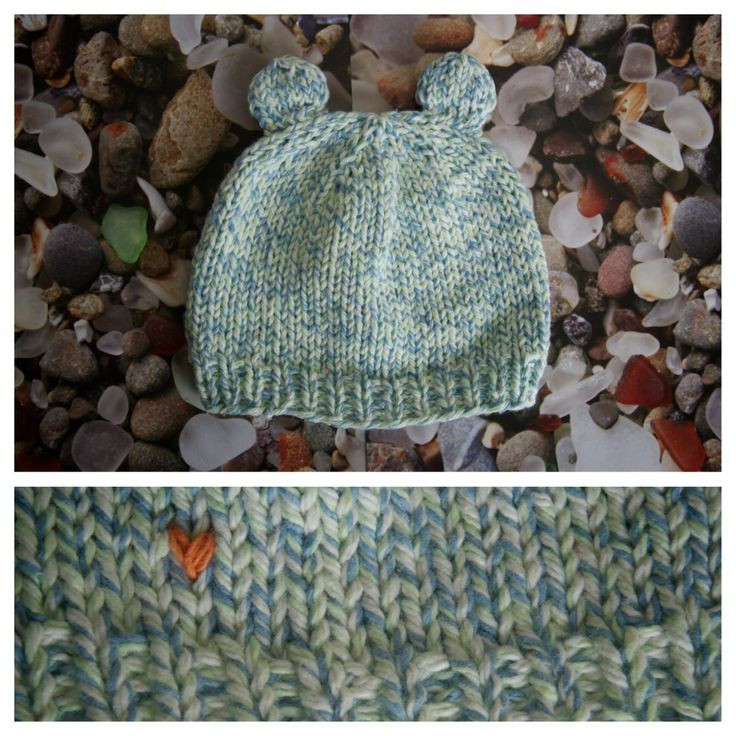 "Baby hat with ears in ""Blue Raspberry"" made with <3 by http://AlyssaPrice.com"