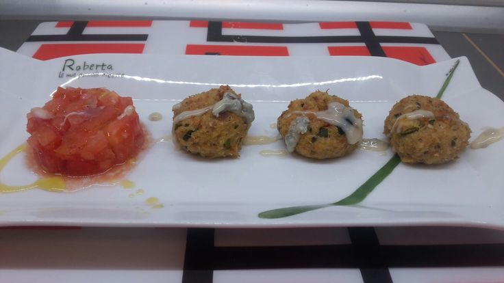 Polpette di tonno con zucchine e gorgonzola