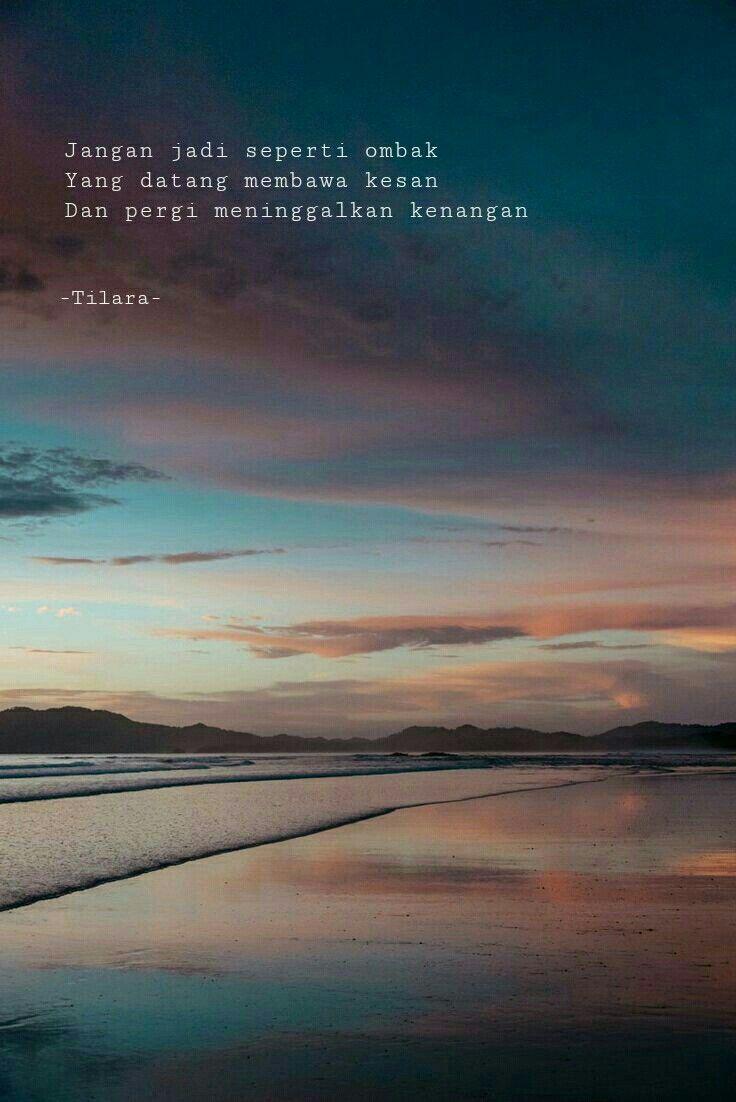 Quote Senja Sun Set Bepergian Kenangan Tempat