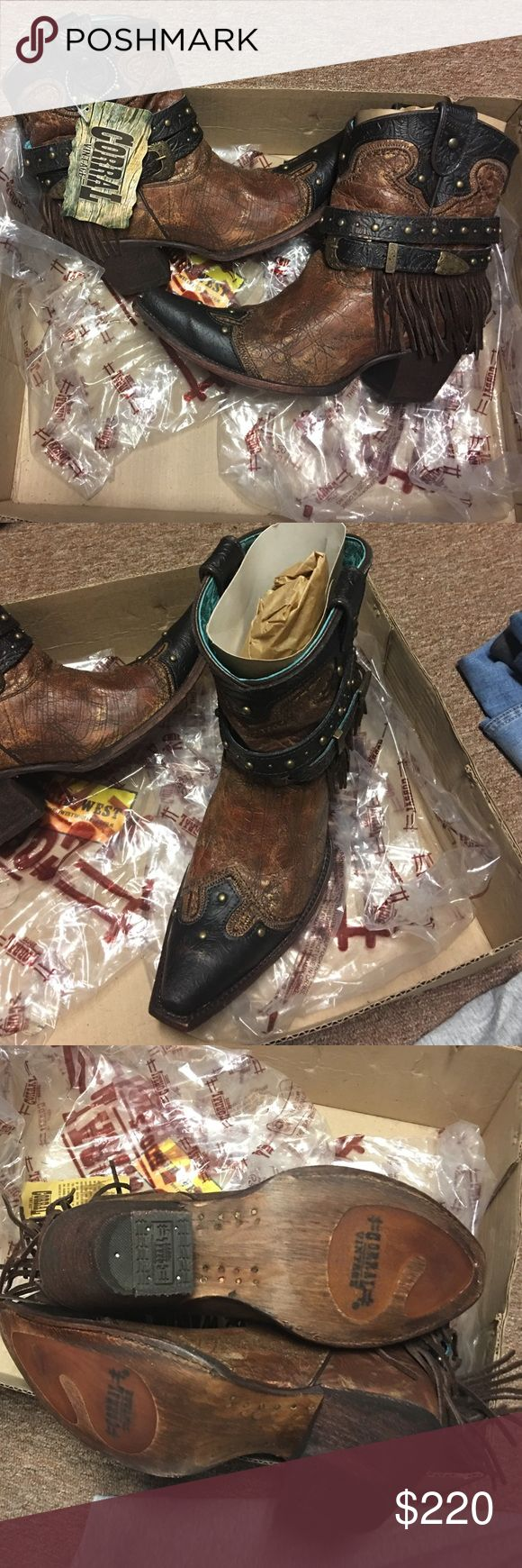 WEEKEND SALE ONLY! CORRAL SIZE 9 booties Bran new! Still in the box! Never been worn! These are so cute! And the price is AWESOME! Corral Vintage Boots Shoes Ankle Boots & Booties