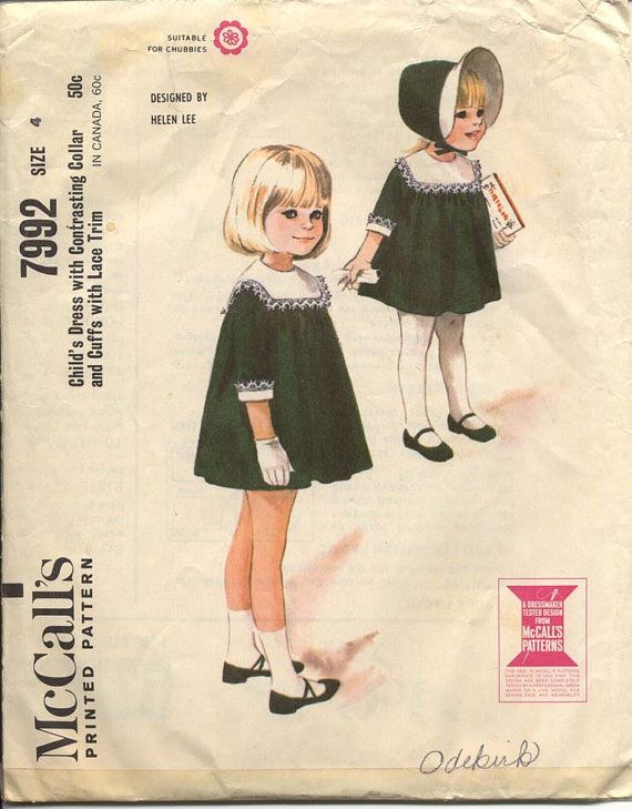 vintage girls dress pattern