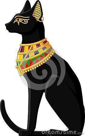 símbolos egípcios o gato