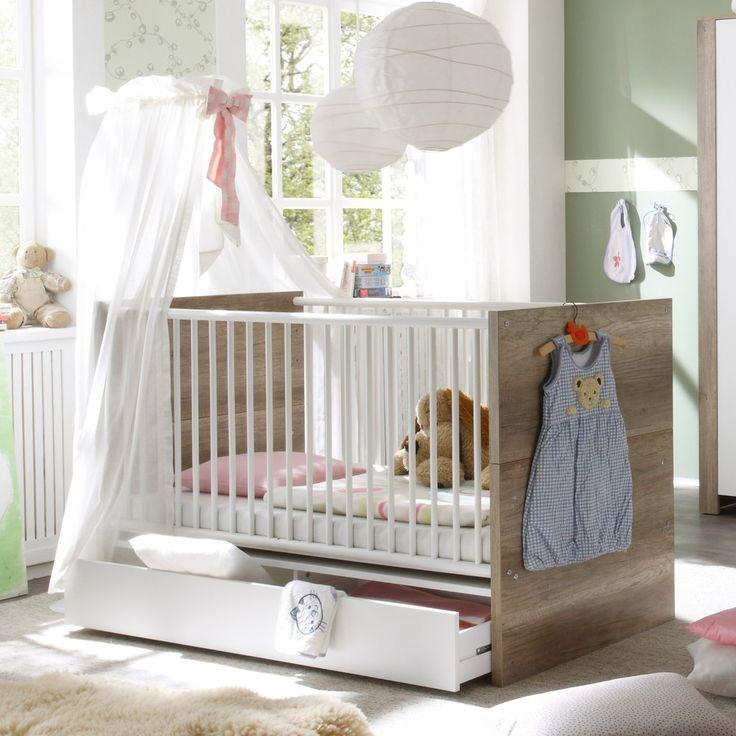 Elegant Babybett Nick x cm Rundsprossen Wildeiche Tr ffel Wei M usbacher M bel online g nstig kaufen