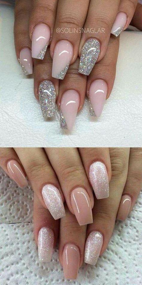 Pink und Glitzer #AcrylicNailsGlitter